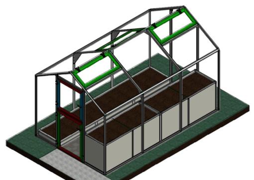Gewächshaus APA Arosio Zeichnung CAD